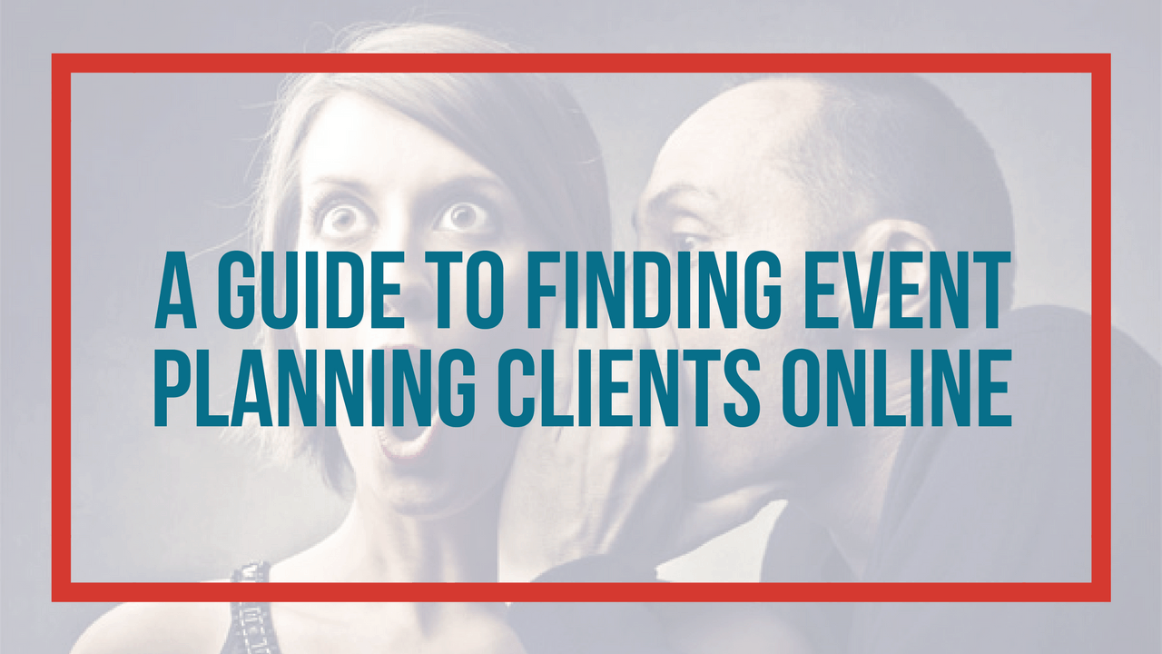 How to find event planning clients online
