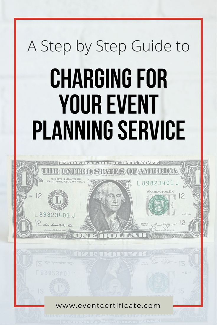 Charging for your event planning service pinterest