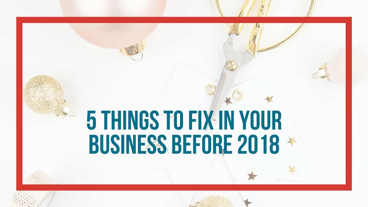 5 things to fix before new year header