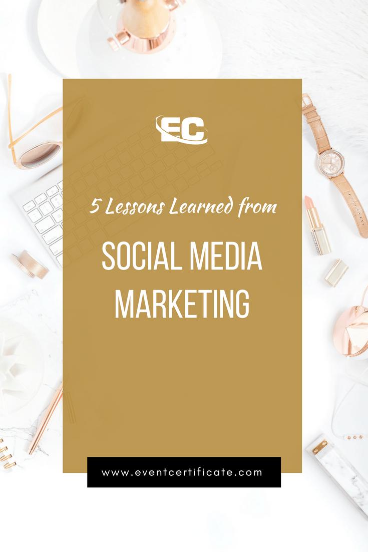 social media marketing lessons learned pinterest