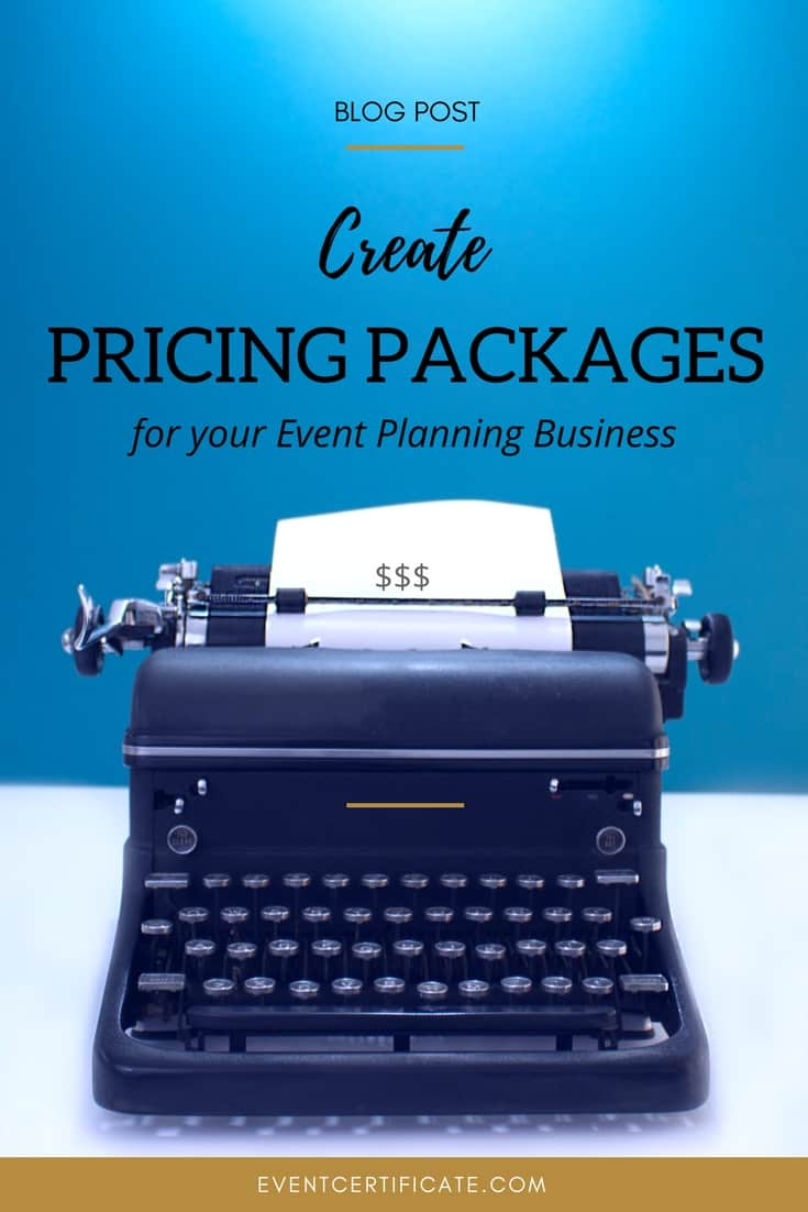 create pricing packages pinterest image