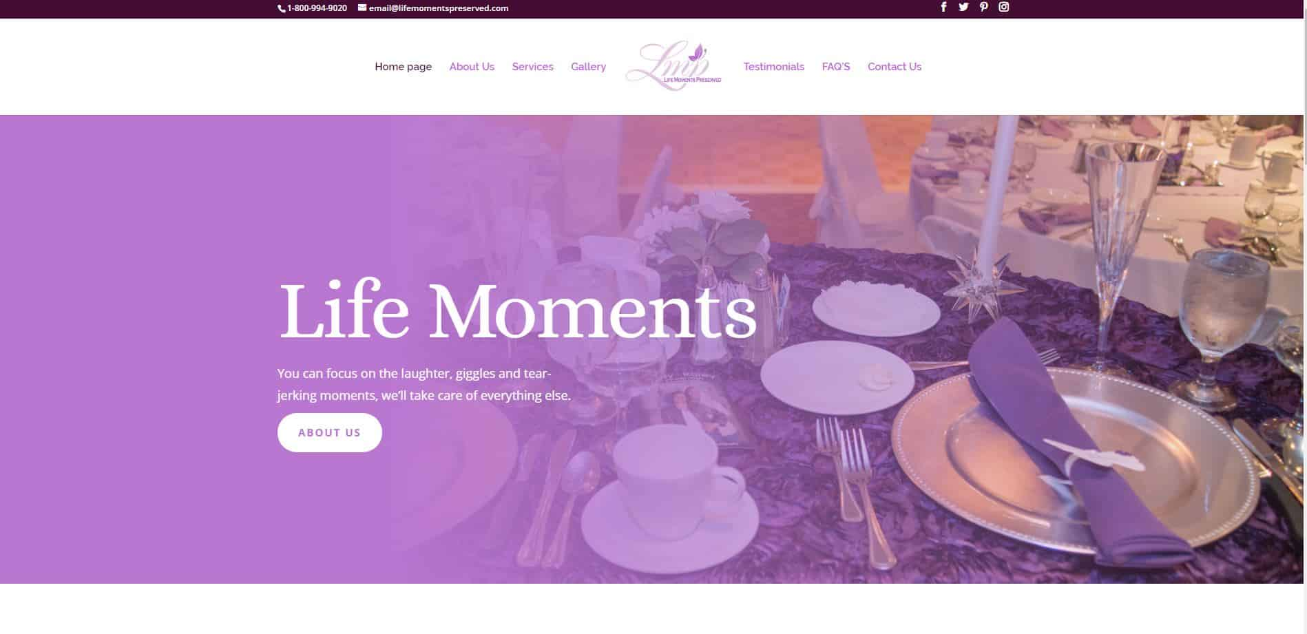 Life Moments - Home Page New