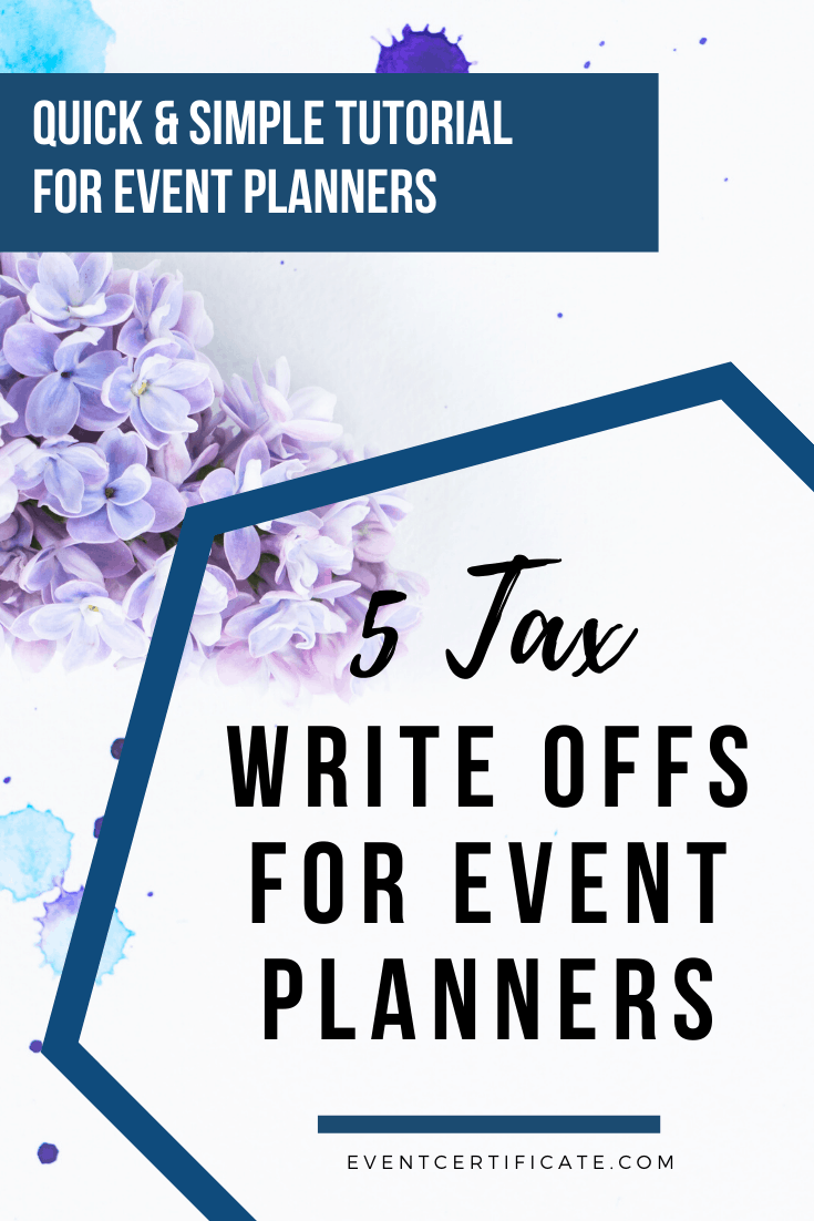 tax write-offs for event planners