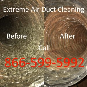 Extreme Air Duct Cleaning Service, Before And After Picture