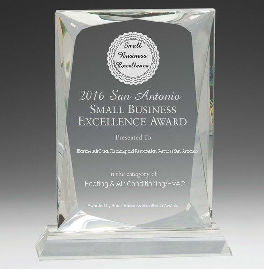 Extreme Air Duct Cleaning San Antonio, Texas Excellence Award