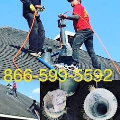 Full service Dryer vent cleaning - Roof access