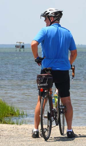 Cyclist at New Point Comfort