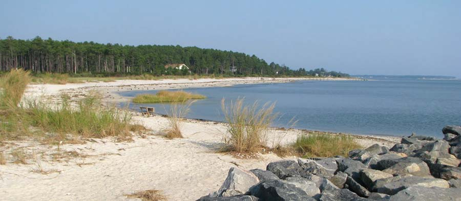 Haven Beach in Mathews County