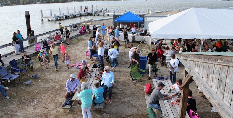 Aerial View Party at the Wharf