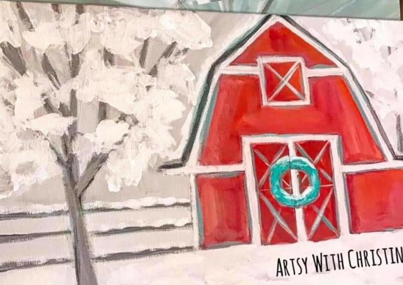 Artsy with Christina - White Dog