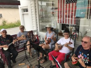 Ukelele on Sibley's Front Porch