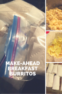 Make ahead breakfast burritos. Freeze breakfast for the month!