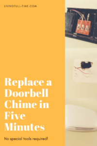Ready for a doorbell upgrade?  This post is a step-by-step guide to replacing a doorbell.