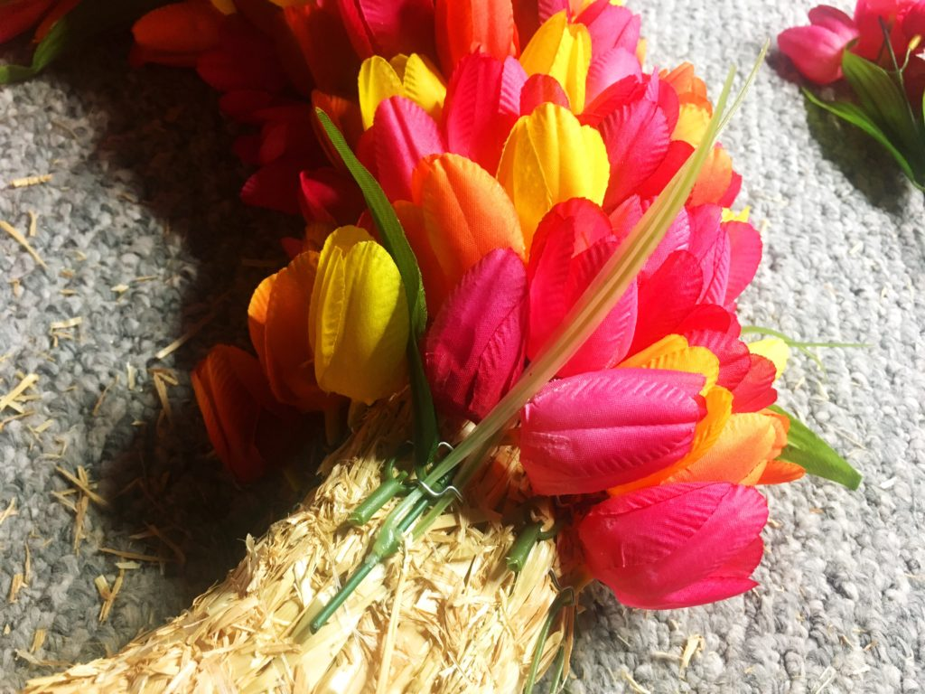 tulip wreath diy instructions