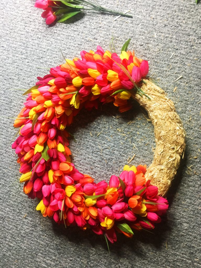 tulip wreath diy instructions spring