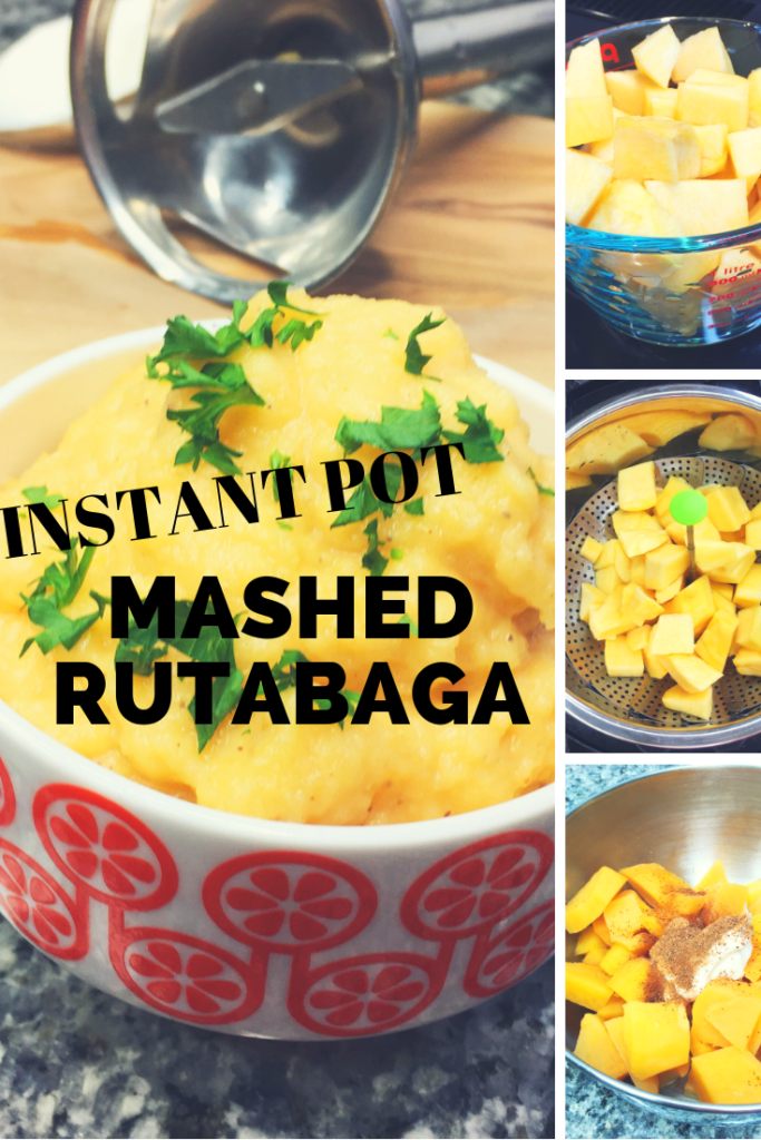 Making mashed rutabaga has never been easier.  Use the Instant Pot!