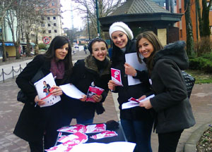 Young women from Bosnia and Herzegovina participate in a leaders