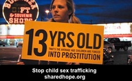 child sex traffickign 13 years