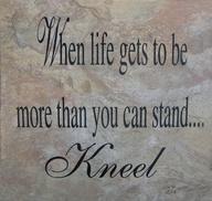 prayer kneel