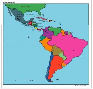 latin-america-political-map