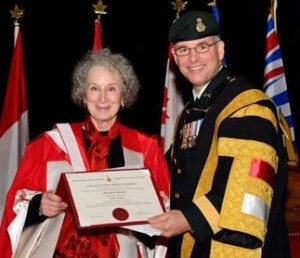 Margaret_AtwoodCommandant_Eric_Tremblay_Royal_Military_College_of_Canada_awards_honorary_degree_to_