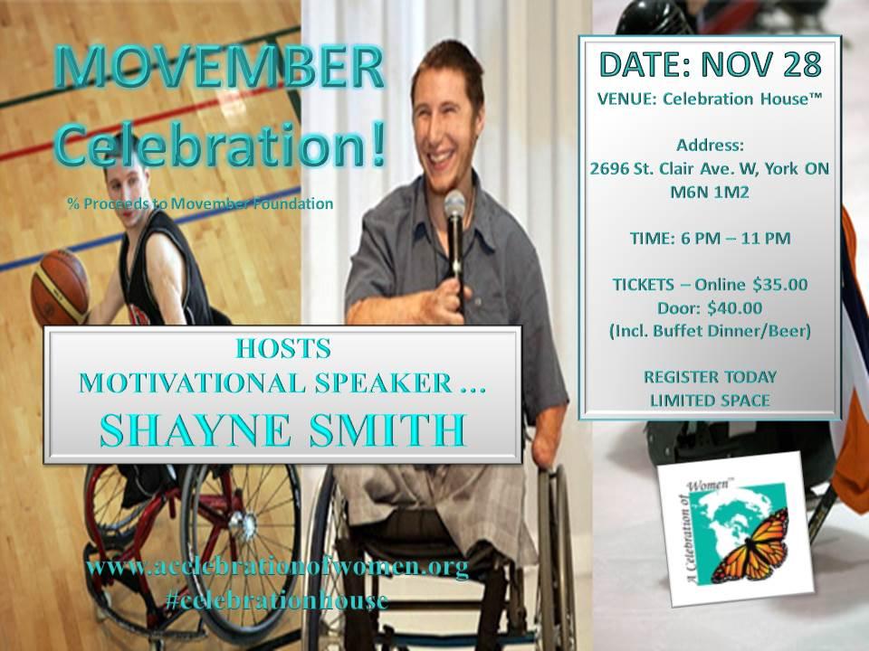 movember shayne smith event nov 28