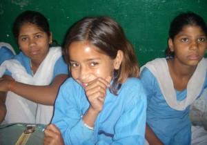 india girls smiling