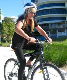 Sharon Mather cycling ...