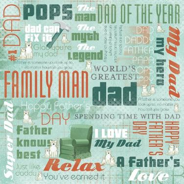 dad collage paper