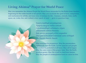 Ahimsa_Prayer Lotus_blue