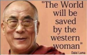dalai lama western woman