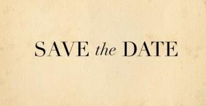 save the date beige black