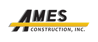 Ames Construction logo with no background