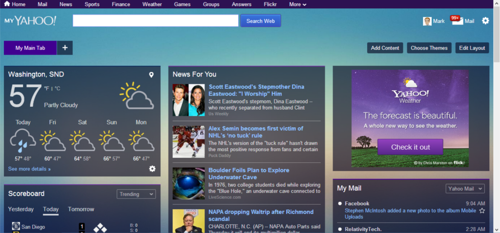 My Yahoo - Personal dashboard