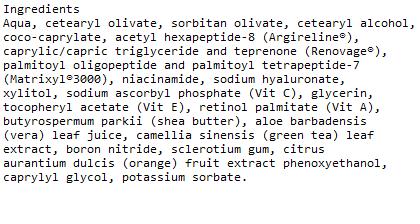 ATAL Advantage Hyaluonic Acid Ingredients