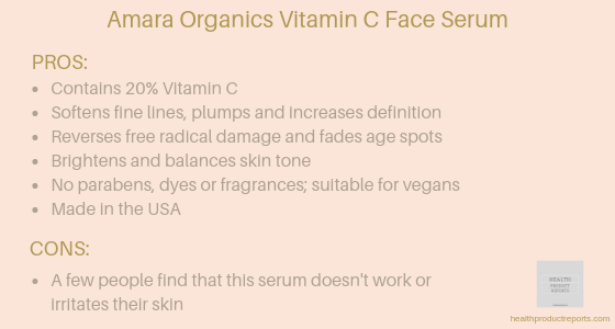 Amara Organics vitamin C face serum