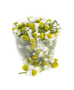 chamomile flowers in vitamin c serum