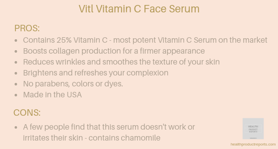 Vitamin C face serum
