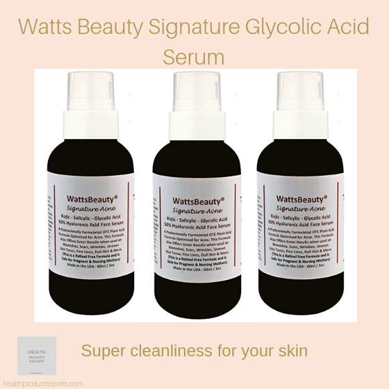 Watts Beauty Signature Glycolic Acid Serum
