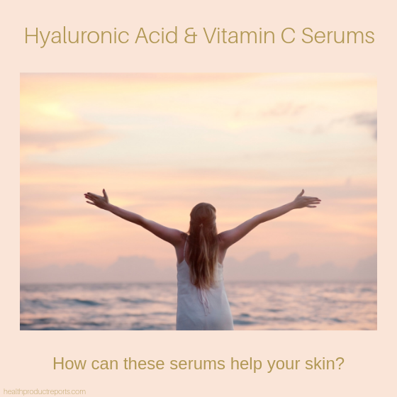 hyaluronic acid and vitamin c serums