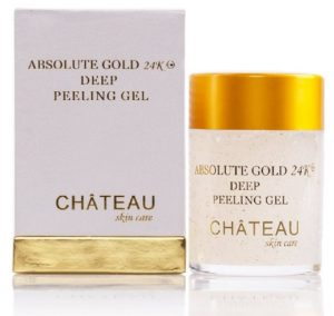 anti-aging skincare products - facial peels with 24K gold