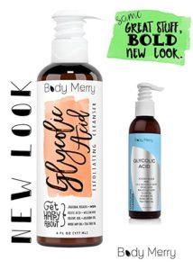 Body Merry Glycolic Acid 2.5 percent anti-aging exfoliating serum