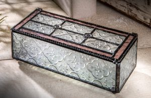 J Devlin Box Rose Pink Glass Jewelry Box - valentine's day gifts