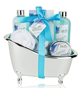 Spa Gift Basket with Refreshing Ocean Bliss Fragrance - valentine's day gifts