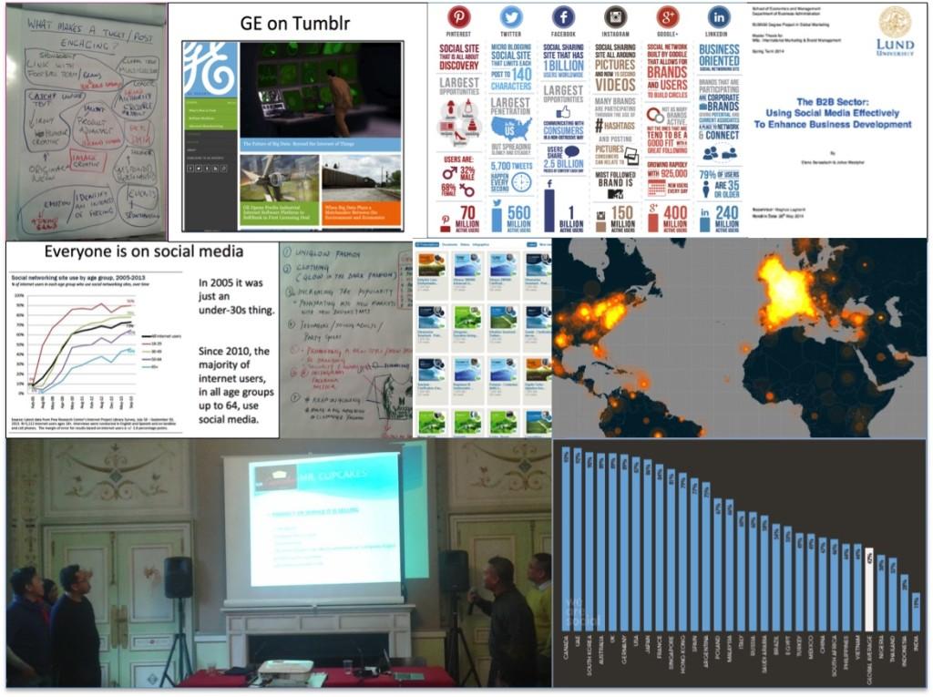Un récent atelier organisé pour 50 étudiants du MBA en visite à Paris sur le thème des médias sociaux B2B.