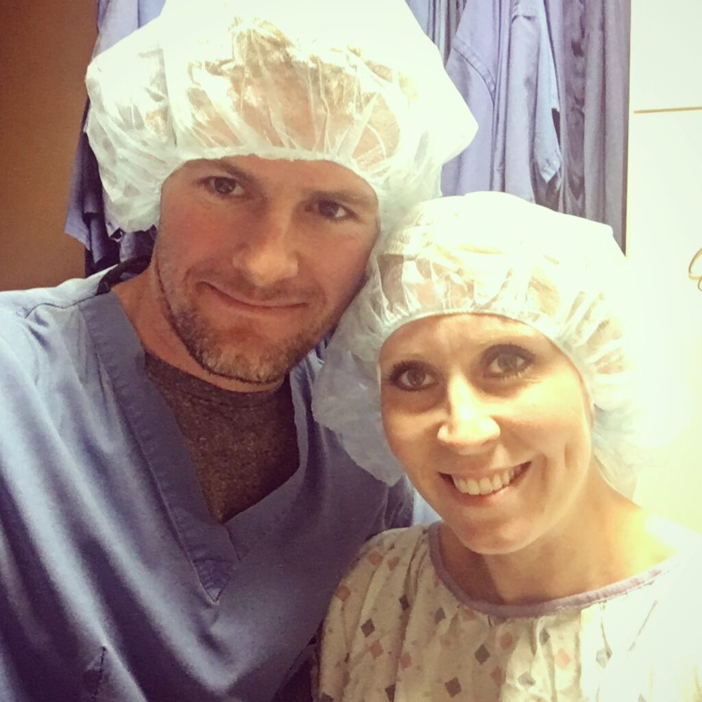 Couple about to go in for an embryo transfer during an IVF process. Why I don't want to forget what it's like to struggle with infertility.