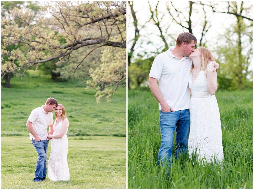 10 Year Anniversary Photo Session | Couples Poses | Engagement Poses | Pasture Session | Iowa Wedding Photographer | CB Studio