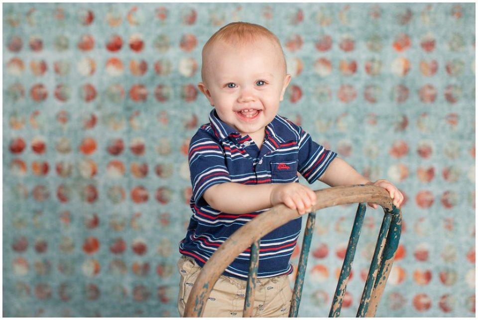 red, white & blue theme session | first birthday photo shoot | Iowa Baby Photographer | CB Studio