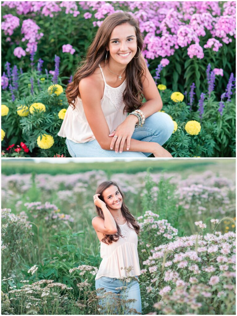 flower field senior picture ideas | Iowa Senior Photographer | CB Studio