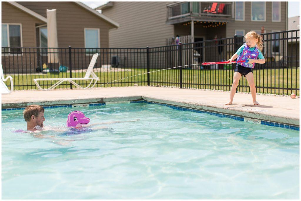 Family Vacation at Lake Okoboji, Iowa | Bridges Bay Cabin Pool | CB Studio